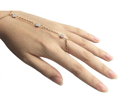 Suyi Chain Bracelet Finger Bangle