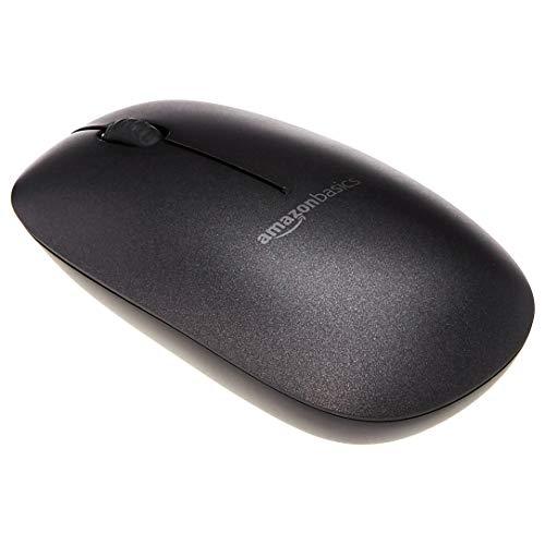 AmazonBasics Slim Wireless Bluetooth Mouse, Black