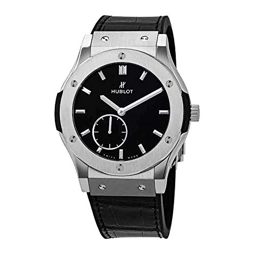 Hublot Classic Fusion Ultra Thin Titanium Automatic Black Dial Men's Watch 545.NX.1270.LR (Thin Titanium Watch)