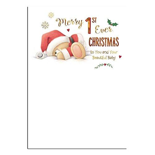 Baby 1st Christmas Forever Friends Christmas Card -