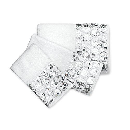 Popular Bath Bath Towels, Sinatra Collection, 3-Piece Set, White ()