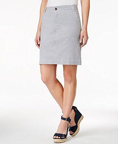Skirt Pinstriped Pencil - Tommy Hilfiger Women Jamie Pinstriped Pencil Skirt Size 12 Navy/White