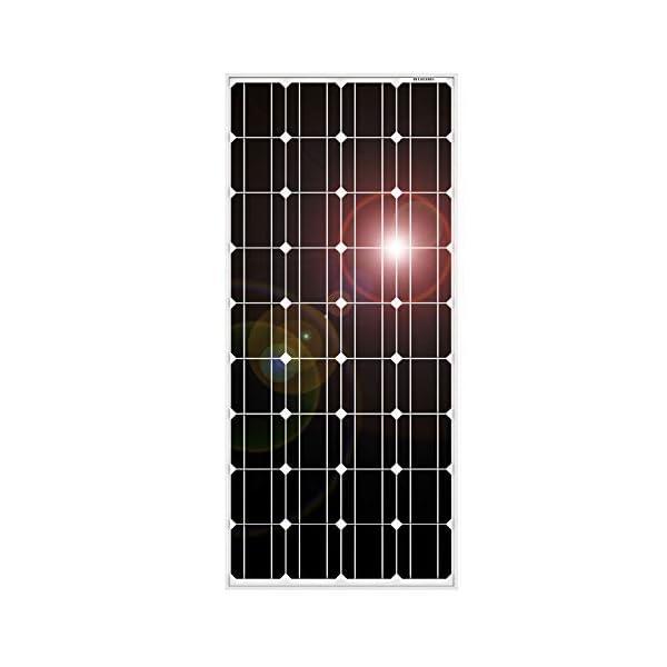 DOKIO 100W Solarpanel TÜV-Zulassung Monokristallin(Hohe Leistung) - Solarmodul 100 Watt FüR 12v Kfz Batterie,AGM…