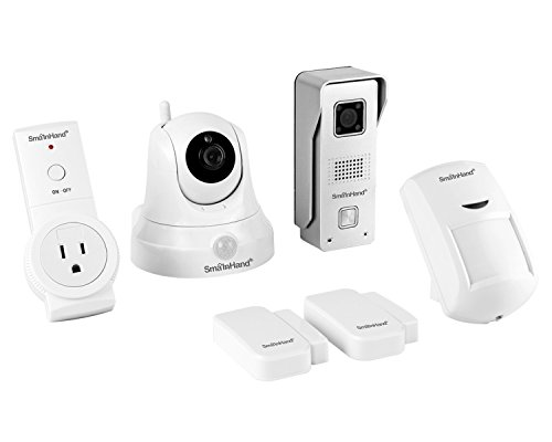 SmaInHand 4Smart Preferred Package, Intercom,Home Automation and Alarm, 1 WiFi Camera, 1 Wifi Doorbell, 1 Wireless Socket, 1 Motion Sensor and 2 Door/Window Sensor for USA by EasySmart