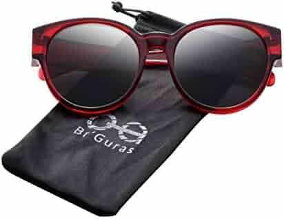 fd864c2eba62 Br'Guras Polarized Oversized Fit over Sunglasses Over Prescription Glasses  with Cat Eye Frame for