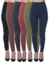 Active Club Women's Fleece Lined Leggings -...