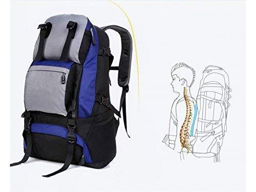 アウトドアと屋内の多機能ショルダーバッグ大容量ハイキング登山用バックパック(ブルー)サイクリングリュックサック B07T41BJQS