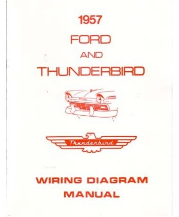 amazon com: 1957 ford electrical wiring diagrams schematics manual book  factory oem: automotive