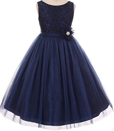 Navy Blue Taffeta Dress - 9