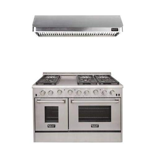 Kucht Professional Series 2-Piece Stainless Steel Kitchen Package with KRG4804U 48