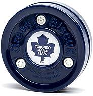 Green Biscuit NHL Pucks -Find Your Team! Hockey Training Puck, Stays Flat, Passing/Handling Street Hockey