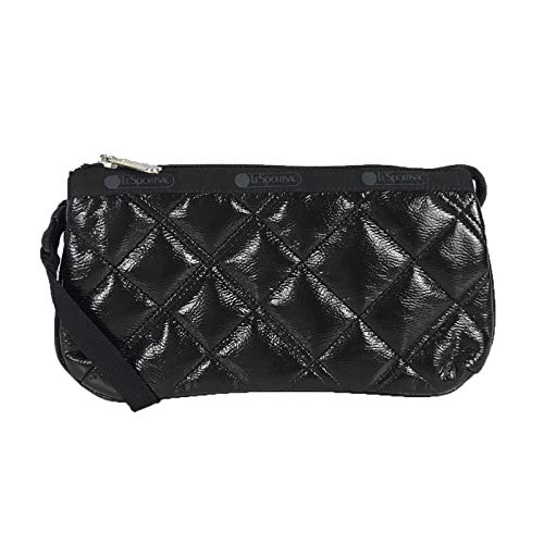 LeSportsac Small Koko Wristlet Black Crinkle Quilted