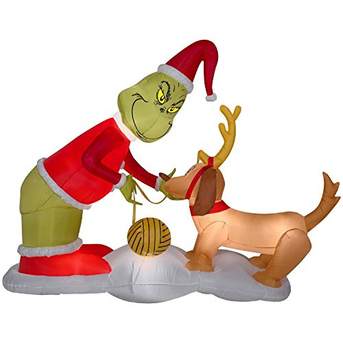 Christmas Inflatable The Grinch & Max Dr Suess Airblown Holiday Decoration By Gemmy by Airblown Inflatable