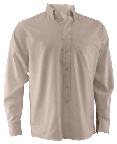 Edwards Oxford Dress Shirt (Ed Garments Men's Easy Care Long Sleeve Oxford Shirt, TAN, Medium)