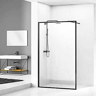 Walk In Loft - Mampara de ducha (80 cm), color negro: Amazon.es ...