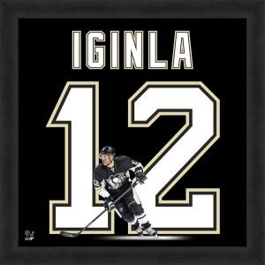 - Pittsburgh Penguins Jarome Iginla 20x20 Framed Uniframe Jersey Photo