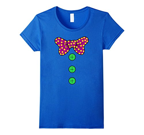 [Womens Clown Costume T-Shirt | Perfect Scary Clown Halloween Gift Medium Royal Blue] (Women's Clown Wig)