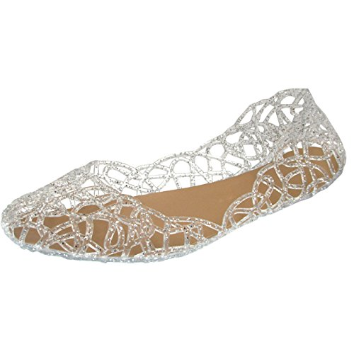 Donalworld Women Summer Breathable Jelly Nest Flat Sandals