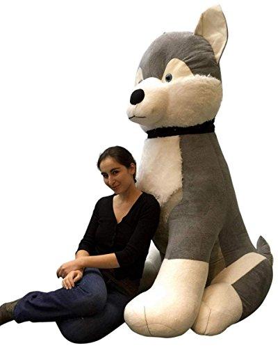 giant stuffed husky tall soft
