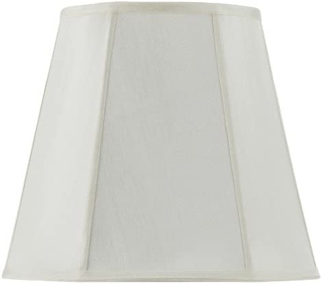 Cal Lighting SH-8107 18-EG Shade from Piped Deep Empire Collection 18.00 inches, Pwt, Nckl, B S, Slvr