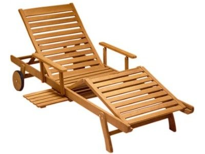 Atlanta Teak Furniture - Teak Chaise Lounge - Grade-A - highly adjustable (Gloster Chaise Lounge)
