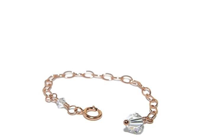 Amazoncom Rose Gold Necklace Extender Swarovski Crystal 14K Rose