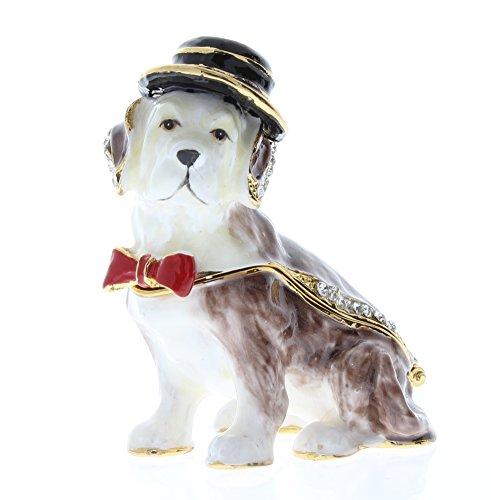 Jeweled Enamel Dog Box - 6