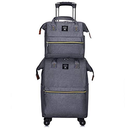 SPRINGYOU ファッション大容量ボックススピナーローリング荷物セット多機能スーツケースホイール 20 インチ女性キャビントロリー旅行バッグ 20\ グレー B07QVXH4KC