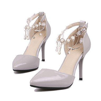 Talones de las mujeres del club de verano Zapatos D'Orsay y de dos piezas de cuero boda oficina y carrera al aire libre del partido del vestido de noche y tacón de aguja informal Red