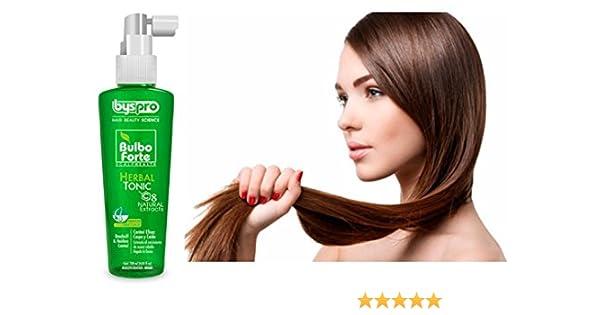 Amazon.com : BysPro-Bulbo forte herbal tonic control eficaz para caspa y caida 120ml/ 3oz : Beauty
