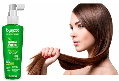 BysPro-Bulbo forte herbal tonic control eficaz para caspa y caida 120ml/ 3oz Herbal Tonic