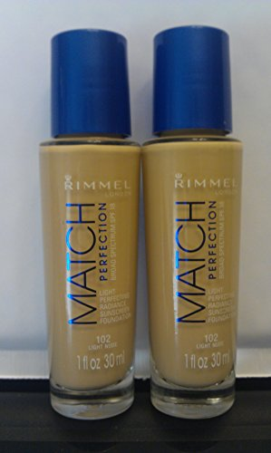 2 Pack- Rimmel Match Perfection Foundation #102 Light Nude
