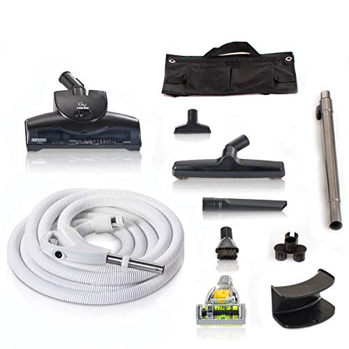 Universal 30ft Central Vacuum Hose Kit with Head
