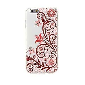 ZMY kinston equilibrio de pasta de diamante flores patrón TPU suave para el iPhone 6 Plus