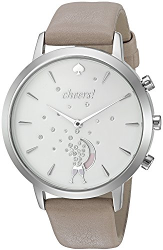 kate spade new york Women's KST23101 Grand Metro Grey and Silver Hybrid Smartwatch Silver Spade