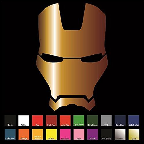 6 x 4.2, Black Yoonek Graphics Iron Man Vinyl Decal Sticker # 841