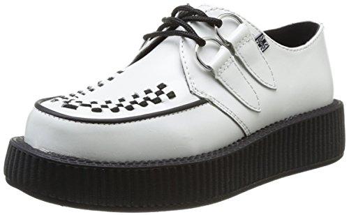 black Adulto u Creeper Zapatillas De Interlace Unisex Blanco Round T k Sole Deporte Low white OvxYUwq