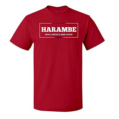 Cincinnati Classic Shirt Reds (Harambe for President, Make America Ape Again,Cincinnati Zoo Short Sleeve TShirt (5XL, Red))