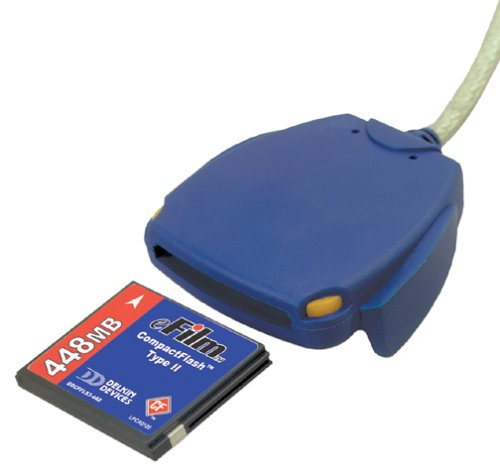 Delkin DDREADER-12 USB Card Reader for CF Type I and II (Delkin Usb)