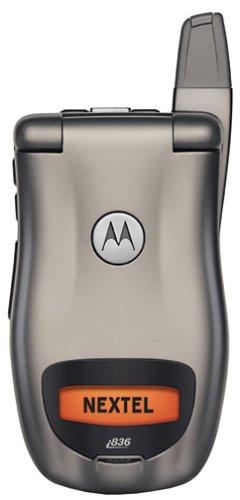 Motorola i836 Nextel iDen PTT rugged Gray cell phone - Iden Nextel Boost
