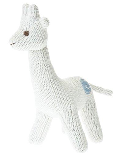 Beba Bean Knit Cotton Animal Rattle for Baby (Giraffe Ivory) by Beba Bean
