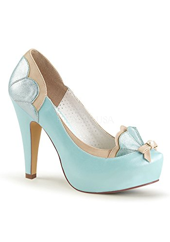 Up Bettie tan Leather B Couture 20 Pin Faux Blue 1dwEdx