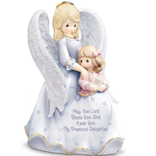 Precious Moments My Blessed Daughter Porcelain Figurine Mother-Daughter Musical Gift by The Bradford Editions