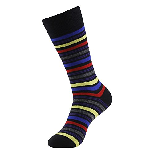 Colorful Cotton Socks, LADUNCIAGA Business Wedding Socks 6 Pack Designed Novelty Happy Funny Crew Colorful Stripe Bridgegroom Groomsmens Socks by LANDUNCIAGA (Image #3)