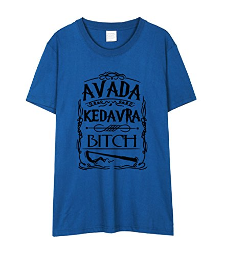 Corta Maglietta Avada Moda Popolare Rotondo Collo Estive Camicetta Tops Shirts Classico Dark Donna Gogofuture Bluse Manica Stampate T Blue2 Kedavra 71Xdq6Y