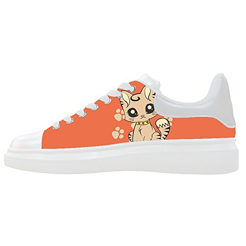 Scarpe Gatto Del Canvas Scarpe Fumetto Le Shoes Women's Custom 0qnHSdH