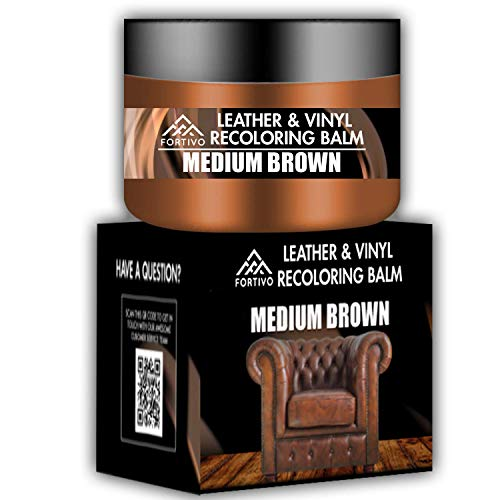 Brown Leather Repair Kits for Couches - Leather Color Restorer for Furniture, Car Seats, Furniture - Leather Recoloring Balm Leather Repair Cream Leather Repair for Upholstery