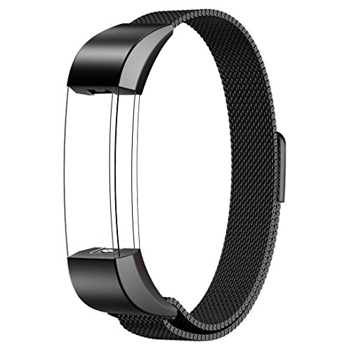Fitbit Alta Bands Metal, Swees Milanese Loop Stainless Steel Replacement Accessories Metal Small & Large Bands Band for Fitbit Alta, Silver, Gold, Black, Rose Gold, Colorful