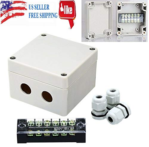 US-Waterproof Enclosure Electrical Junction Box Connector Terminal Wire Cable Case from YYX