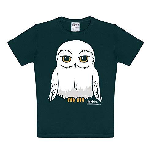 LOGOSHIRT – Harry Potter – Uil – Hedwig – T-Shirt Kinderen – zwart – Gelicentieerd origineel ontwerp